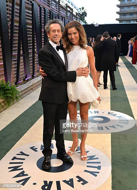Producer Brian Grazer and Veronica Smiley attend the 2014 Vanity Fair Oscar Party Hosted By Graydon Carter on March 2 2014 in West Hollywood...