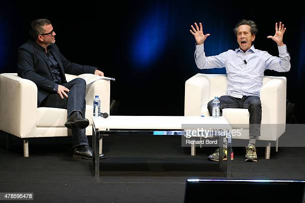 Producer Brian Grazer in conversation with Matt Eastwood during the J Walter Thompson seminar as part of the Cannes Lions International festival of...