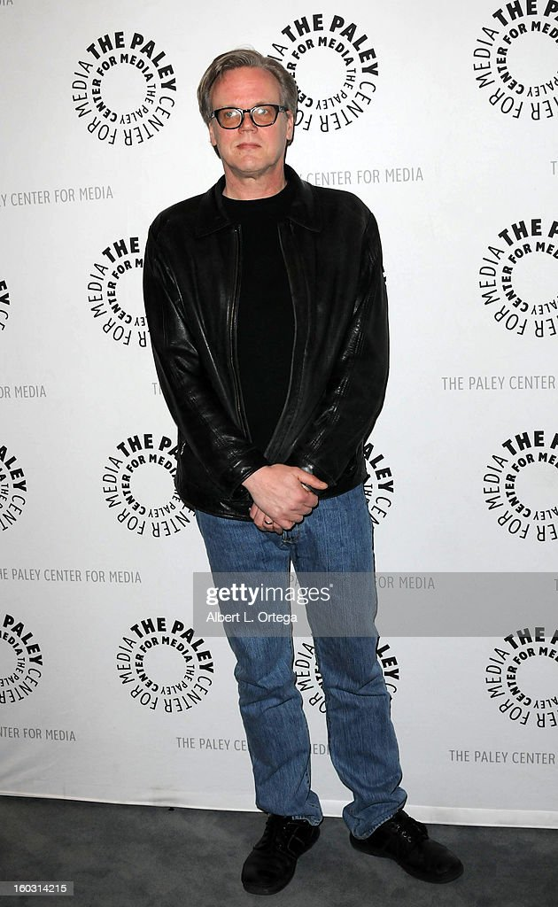 Producer Bruce Timm arrives for The Paley Center for Media & Warner Bros. Home Entertainment Premiere of 'Batman: The Dark Knight Returns, Part 2' held at The Paley Center for Media on January 28, 2013 in Beverly Hills, California.