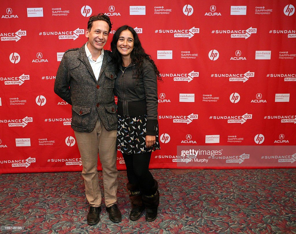 Producer Bruno Bettati and director Alicia Scherson attends 'The Future' premiere at Prospector Square during the 2013 Sundance Film Festival on January 19, 2013 in Park City, Utah.
