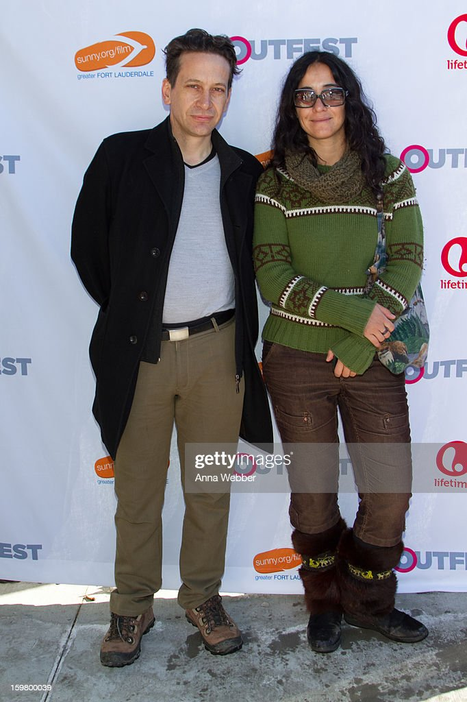 Producer Bruno Bettati and Director Alicia Scherson for the movie IL FUTURO arrive to Outfest Queer Brunch - 2013 Park City on January 20, 2013 in Park City, Utah.