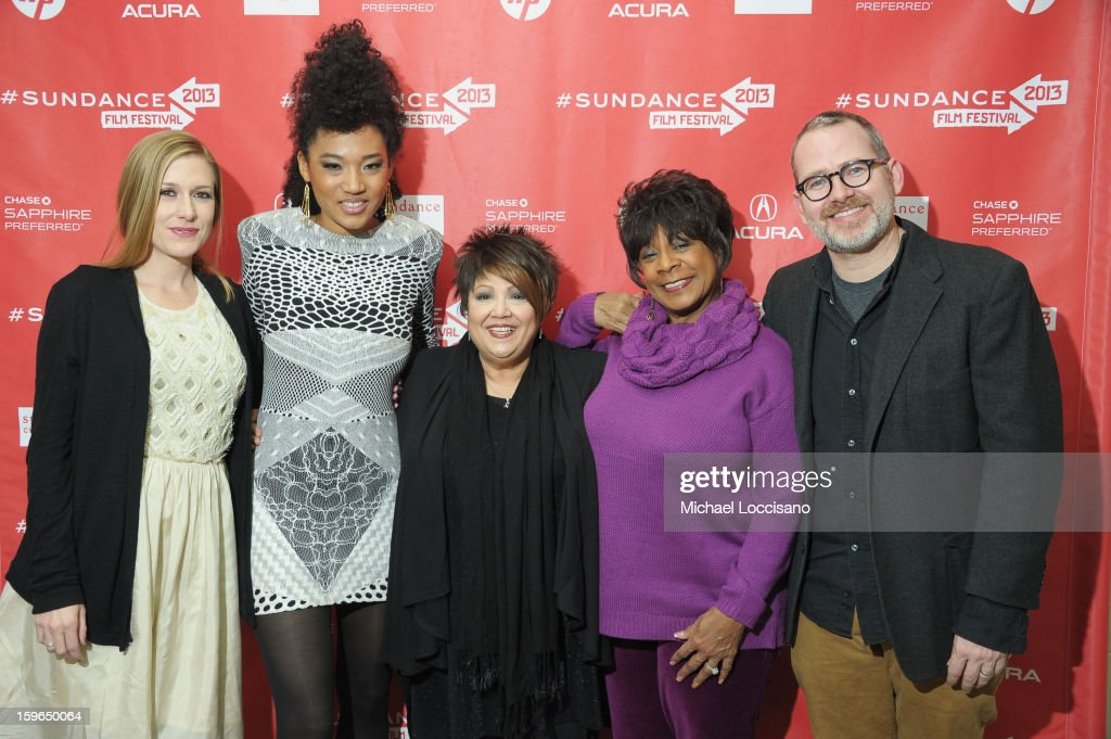 Producer Caitrin Rogers, singers Judith Hill, Tata Vega and Merry Clayton and director Morgan Neville attend the 'Twenty Feet From Stardom' premiere during the 2013 Sundance Film Festival at Eccles Center Theatre on January 17, 2013 in Park City, Utah.
