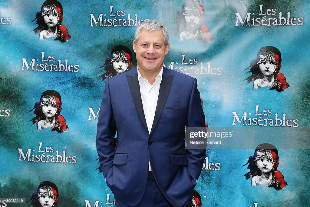 Producer <a gi-track='captionPersonalityLinkClicked' href=/galleries/search?phrase=Cameron+Mackintosh&family=editorial&specificpeople=217237 ng-click='$event.stopPropagation()'>Cameron Mackintosh</a> attends the opening night of <a gi-track='captionPersonalityLinkClicked' href=/galleries/search?phrase=Cameron+Mackintosh&family=editorial&specificpeople=217237 ng-click='$event.stopPropagation()'>Cameron Mackintosh</a>'s new production of Boublil and Schonberg's 'Les Miserables' on Broadway at The Imperial Theatre on March 23, 2014 in New York City.