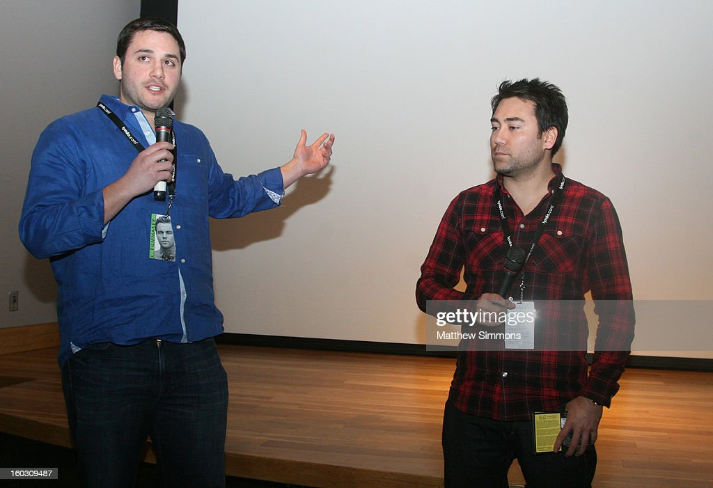 Producer Carl D'Andre of the film 'Old Man' and Animator Jeff Chiba Stearns of the film 'Yellow Sticky Notes' attend the 28th Santa Barbara International Film Festival on January 28, 2013 in Santa Barbara, California.