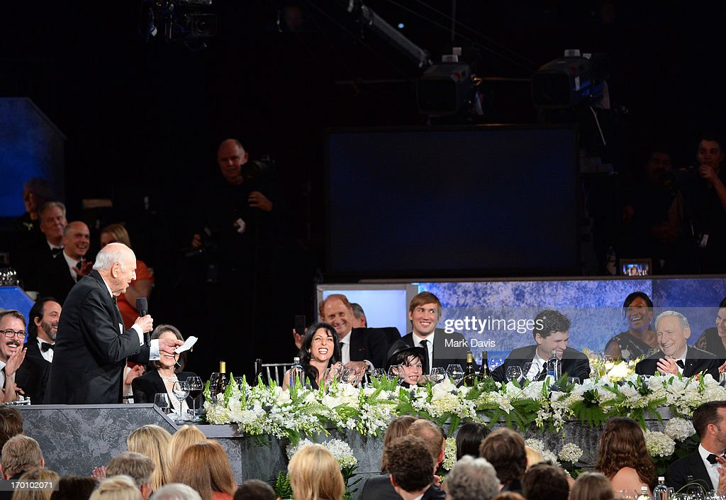 Producer Carl Reiner speaks in the audience during AFI's 41st Life Achievement Award Tribute to Mel Brooks at Dolby Theatre on June 6, 2013 in Hollywood, California. 23647_005_MD_0674.JPG