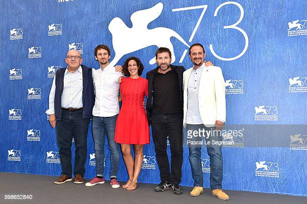 Producer Carlo Degli Esposti director Raul Arevalo producer Beatriz Bodegas actors Antonio De La Torre and Luis Callejo attend a photocall for 'The...