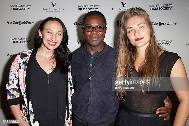 Producer Carly Hugo actor David Oyelowo and director Maris Curran arrive on the red carpet for the San Francisco International Film Festival premiere...