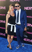 Producer Casey Neistat and guest attend the 'Nerve' New York premiere at SVA Theater on July 12 2016 in New York City