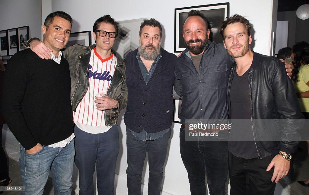 Producer Cash Warren, actor Johnny Nashville, director Mark Romanek, photographer Michael Muller and actor Balthazar Getty attend the
