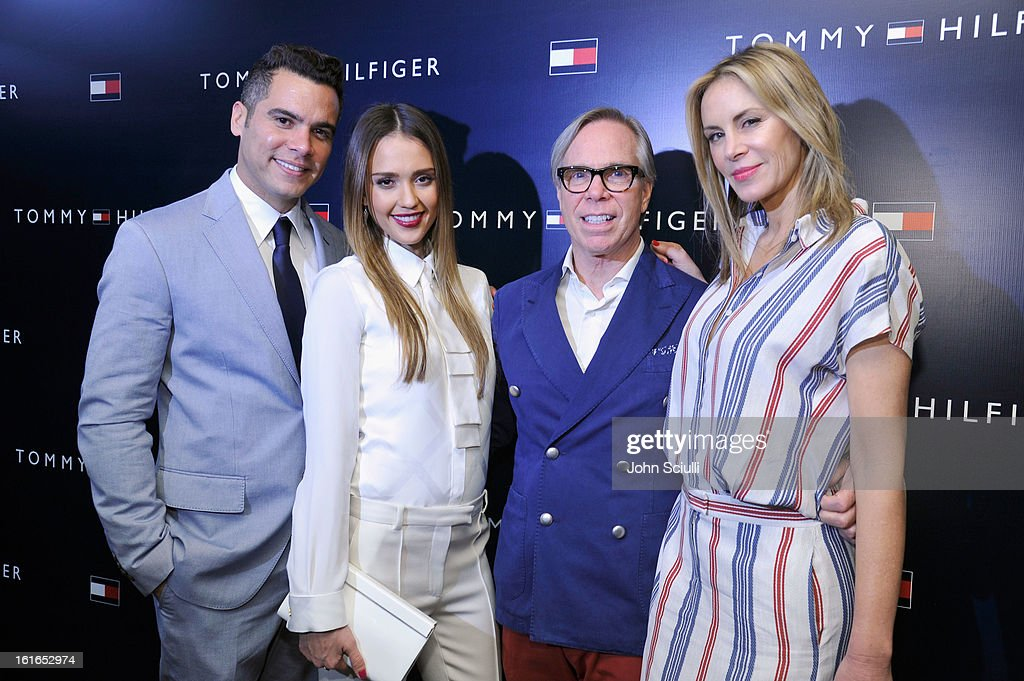 Producer Cash Warren, actress Jessica Alba, fashion designer Tommy Hilfiger and Dee Hilfiger attend Tommy Hilfiger New West Coast Flagship Opening After Party at a Private Club on February 13, 2013 in West Hollywood, California.