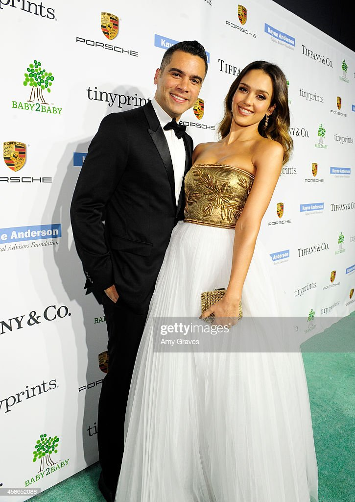 Producer Cash Warren and actress Jessica Alba attend the 2014 Baby2Baby Gala presented by Tiffany Co on November 8 2014 in Culver City California
