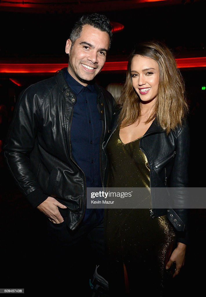 Producer Cash Warren and actress Jessica Alba in Saint Laurent by Hedi Slimane attend Saint Laurent at the Palladium on February 10 2016 in Los...