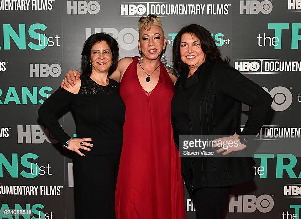 Producer Catherine Pino subject of the documentary Bamby Salcedo and producer Ingrid Duran attend HBO Documentary Film 'THE TRANS LIST' NY Premiere...