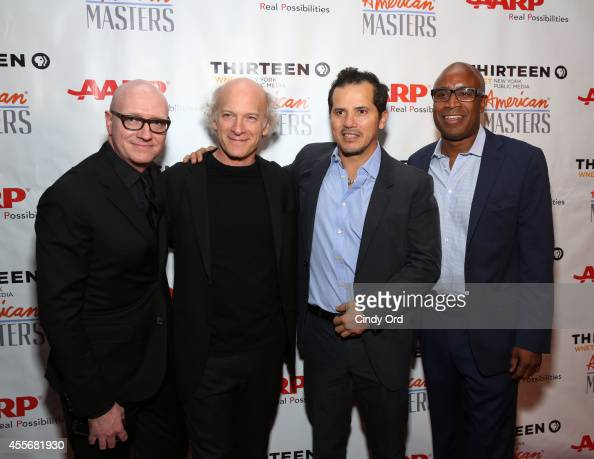 Producer Chad Thompson director/photographer Timothy GreenfieldSanders actor John Leguizamo and producer Tommy Walker attend American Masters The...