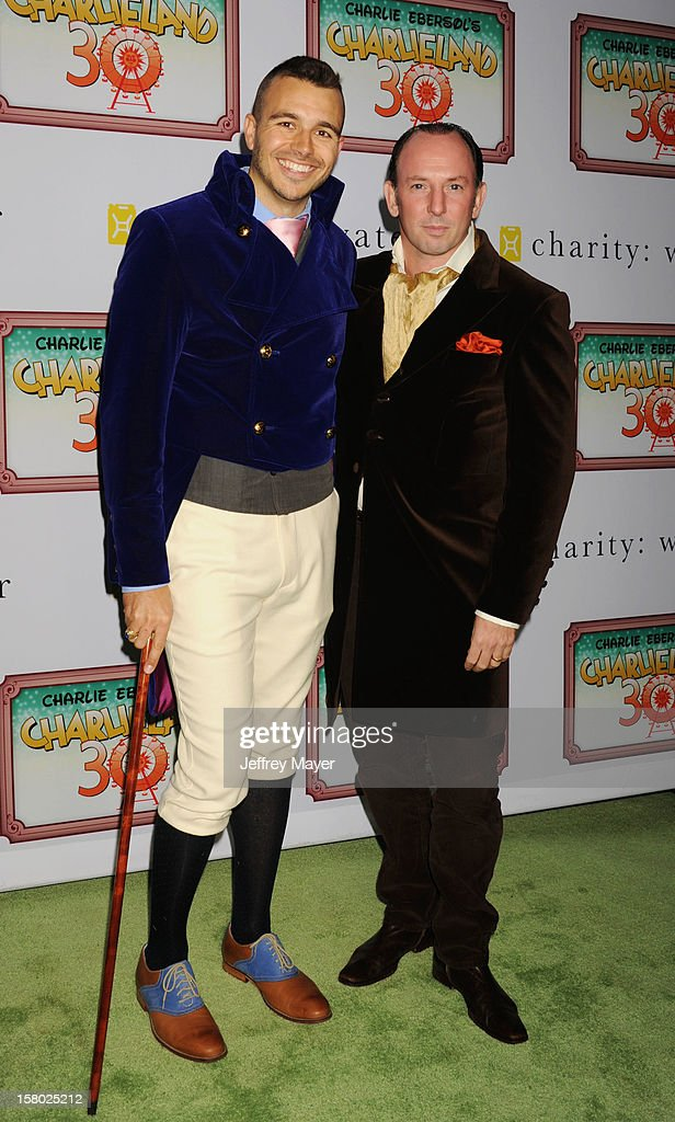 Producer Charlie Ebersol and Producer/Partner Justin Hochberg attend Charlie Ebersol's 'Charlieland' Birthday Party And Charity: Water Fundraiser on December 8, 2012 in Los Angeles, California.