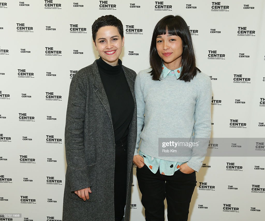 Producer Charlotte Mars (L) and director Maya Newell attend a screening of 'Gayby Baby' at the LGBT Community Center on May 1, 2016 in New York City.