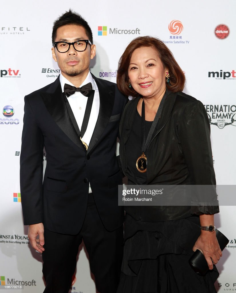 Producer Chee Kong ' CheeK' Cheah (L) and executive producer Nelia Molato-Sutrisno attend the 40th International Emmy Awards on November 19, 2012 in New York City.