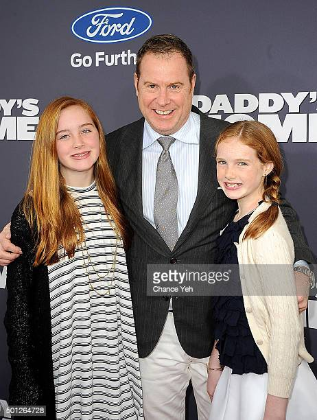Producer Chris Henchy and his children Rowan Henchy and Grier Henchy attend 'Daddy's Home' New York premiere at AMC Lincoln Square Theater on...