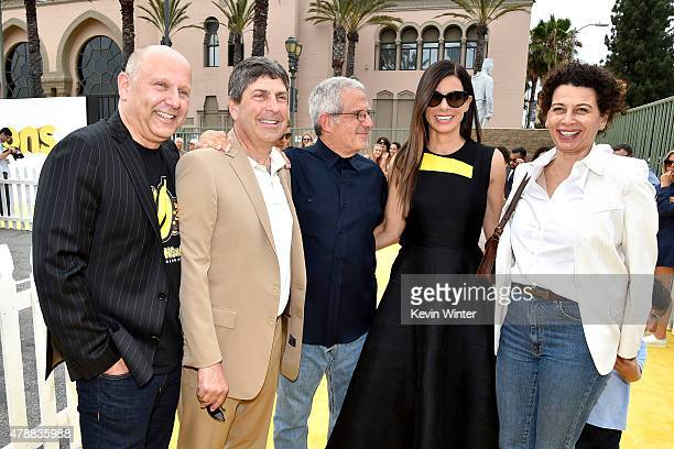 Producer Chris Meledandri Jeff Shell Chairman Filmed Entertainment Group Ron Meyer ViceChairman NBCUniversal actress Sandra Bullock and Donna Langley...