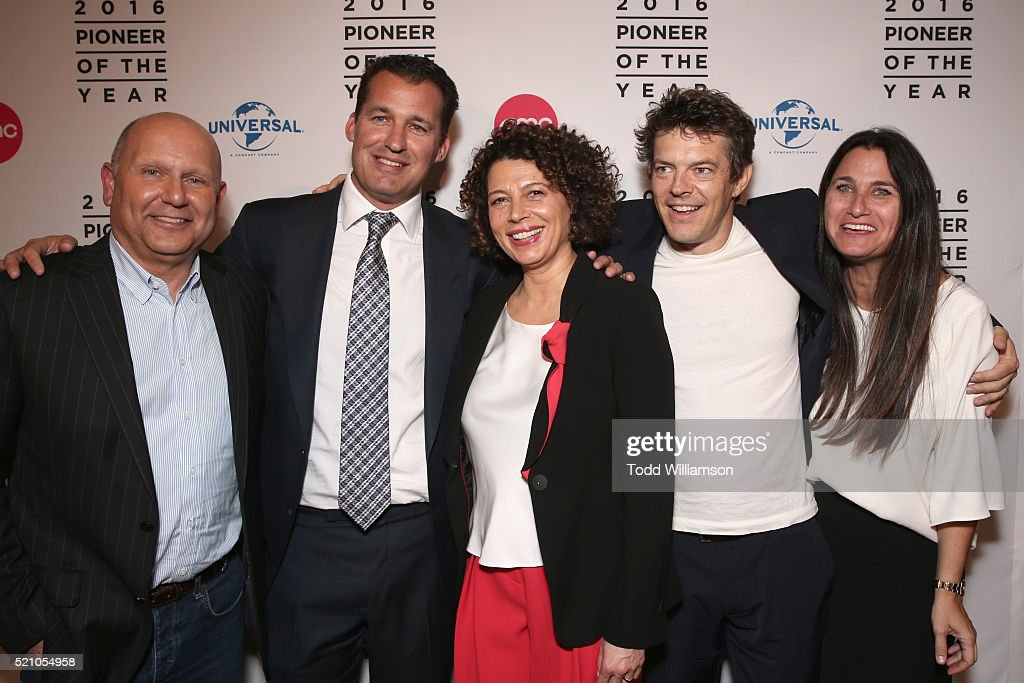 Producer Chris Meledandri producer Scott Stuber Universal Pictures Chairman Donna Langley producer Jason Blum and producer Liza Chasin attend the...
