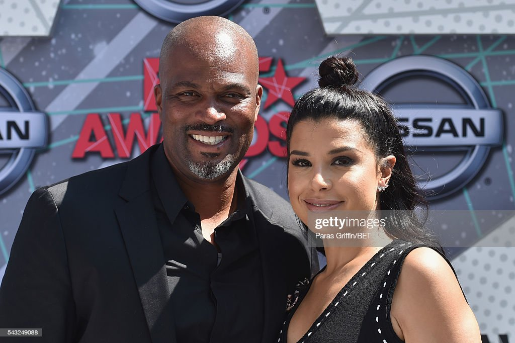 Producer Chris Spencer and Vanessa Rodriguez attend the 2016 BET Awards at the Microsoft Theater on June 26, 2016 in Los Angeles, California.