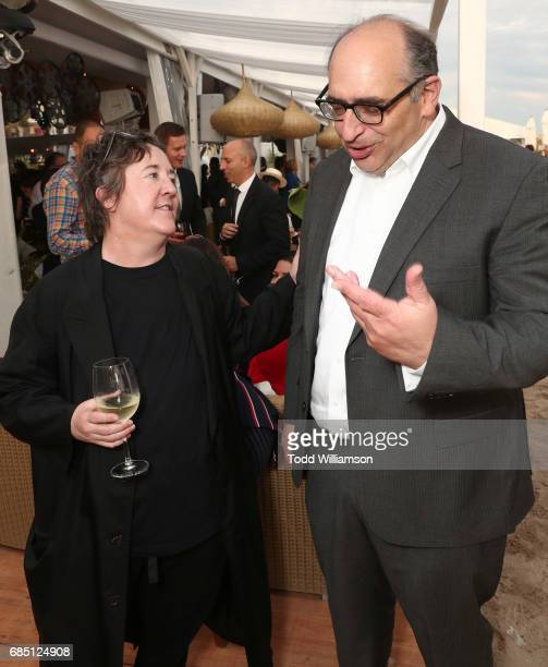 Producer Christine Vachon and Amazon Studios' Josh Kramer attend the 'Wonderstruck' Cannes After Party on May 18 2017 in Cannes