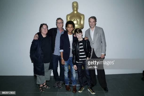Producer Christine Vachon director Todd Haynes actor Jaden Michael actor Oakes Fegley and composer Carter Burwell attend The Academy of Motion...