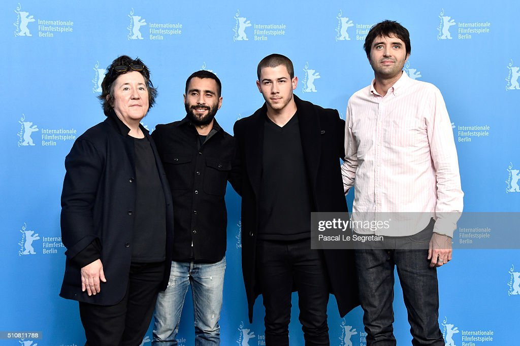 Producer Christine Vachon,Producer David Hinojosa,Actor Nick Jonas and Director Andrew Neel attend the 'Goat' photo call during the 66th Berlinale International Film Festival Berlin at Grand Hyatt Hotel on February 17, 2016 in Berlin, Germany.