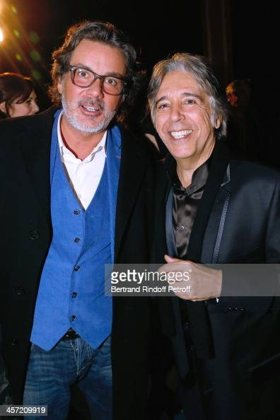Producer Christophe Barratier and Director Ariel Zeitoun attend the 'Angelique' Paris movie premiere after screening at Cinema Gaumont Capucine on...