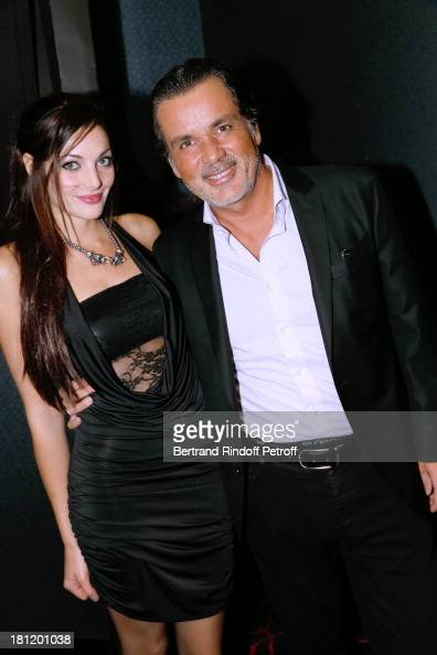 Producer Christophe Barratier and his companion Gwendoline Doytcheva attend 'AClub Party' at Castel on September 19 2013 in Paris France