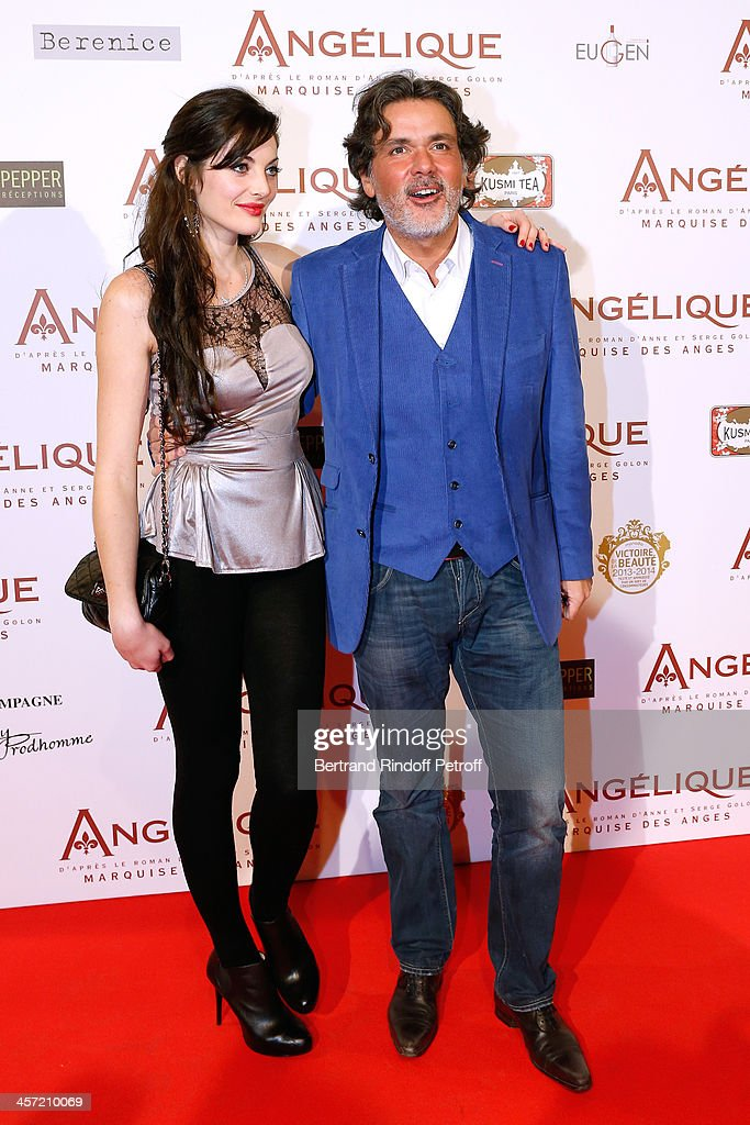 Producer Christophe Barratier and his companion Gwendoline Doytcheva attend the 'Angelique' Paris movie premiere at Cinema Gaumont Capucine on...