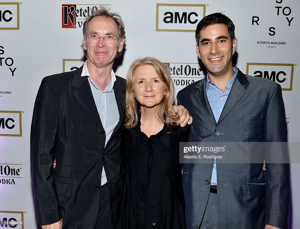 Producer Christopher Sheppard, Filmmaker <a gi-track='captionPersonalityLinkClicked' href=/galleries/search?phrase=Sally+Potter&family=editorial&specificpeople=212743 ng-click='$event.stopPropagation()'>Sally Potter</a> and Producer Andrew Litvin attend the 'Ginger & Rosa' post premiere reception during 2012 Toronto International Film Festival held at the AMC Storys on September 7, 2012 in Toronto, Canada.