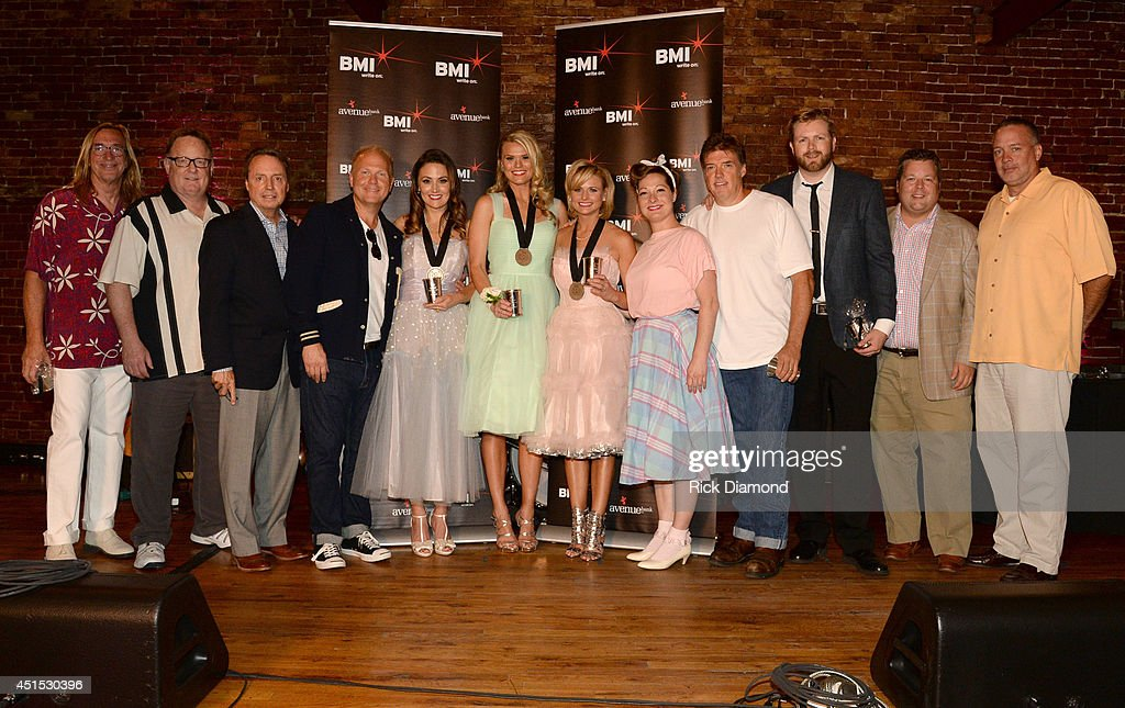 producer Chuck Ainlay, Sony Music Nashville's Gary Overton, BMI's Jody Williams, Sony ATV Music Publishing's Troy Tomlinson, co-writers Natalie Hemby and Nicolle Galyon, <a gi-track='captionPersonalityLinkClicked' href=/galleries/search?phrase=Miranda+Lambert&family=editorial&specificpeople=571972 ng-click='$event.stopPropagation()'>Miranda Lambert</a>, Sony ATV Music Publishing's Abbey Adams, producer Frank Liddell, Warner/Chappell Music's BJ Hill, BMI's Bradley Collins, and Sony Music Nashville's Keith Gale attend the 'Automatic' No. 1 party on June 30, 2014 in Nashville, Tennessee.