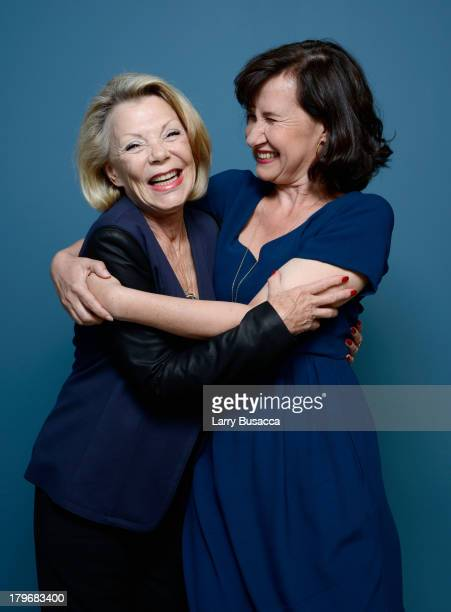 Producer Claudie Ossard and actress Anne Le Ny of 'Attila Marcel' pose at the Guess Portrait Studio during 2013 Toronto International Film Festival...