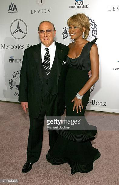 Producer Clive Davis and singer Whitney Houston arrive at the 17th Annual MercedesBenz Carousel of Hope Ball at the Beverly Hilton Hotel on October...