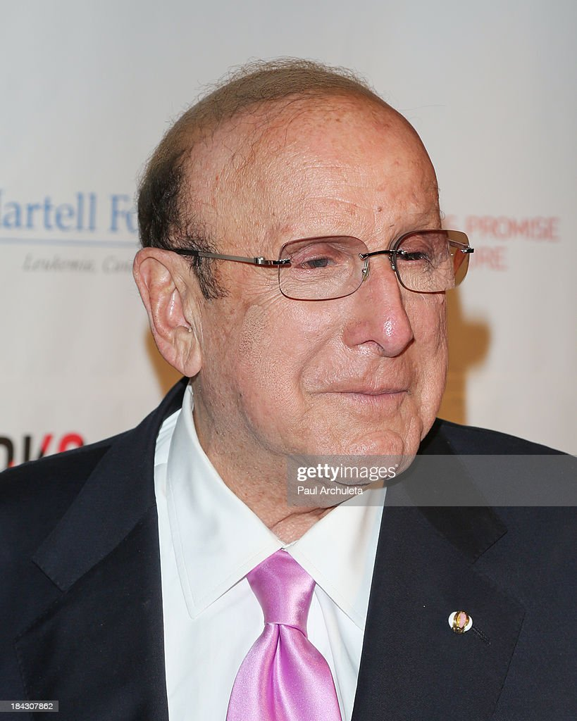 Producer <a gi-track='captionPersonalityLinkClicked' href=/galleries/search?phrase=Clive+Davis&family=editorial&specificpeople=209314 ng-click='$event.stopPropagation()'>Clive Davis</a> attends The T.J. Martell Foundation's 3rd annual Artworks For The Cure charity event at Barker Hangar on October 12, 2013 in Santa Monica, California.