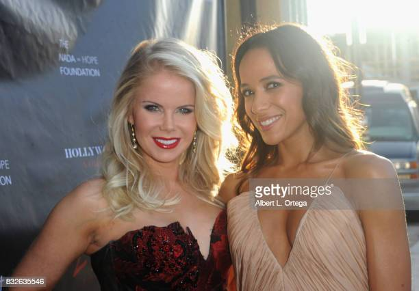 "Producer Crystal Hunt and actress Dania Ramirez at the Premiere Of Parade Deck's ""Lycan"" held at Laemmle's Ahrya Fine Arts Theatre on August 15 2017..."