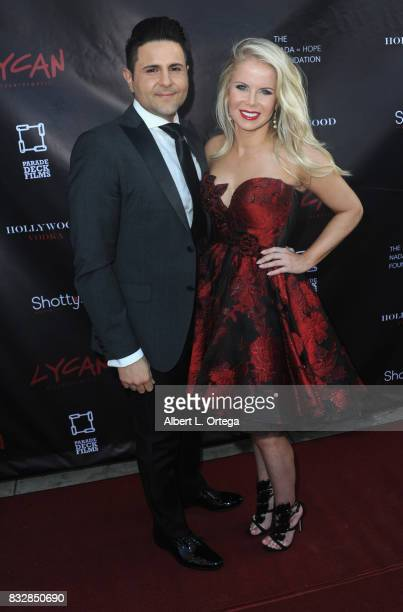 "Producer Crystal Hunt and Robert Kashian at the Premiere Of Parade Deck's ""Lycan"" held at Laemmle's Ahrya Fine Arts Theatre on August 15 2017 in..."