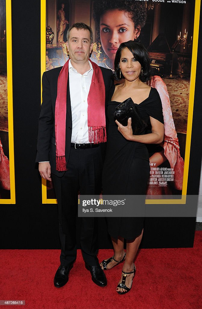 Producer Damian Jones (L) attends the 'Belle' premiere at The Paris Theatre on April 28, 2014 in New York City.