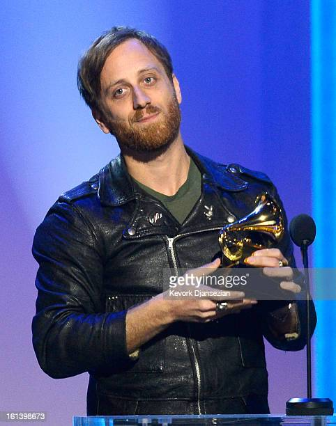Producer Dan Auerbach accepts the Producer Of The Year NonClassical Award onstage at the The 55th Annual GRAMMY Awards at Nokia Theatre on February...