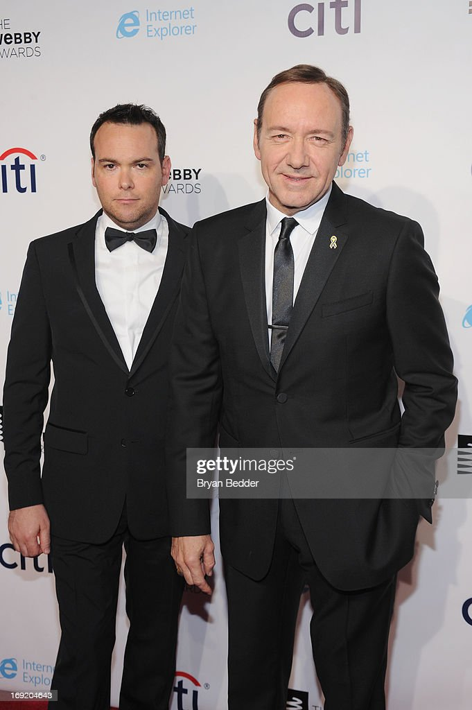 Producer Dana Brunetti and Kevin Spacey attend the 17th Annual Webby Awards at Cipriani Wall Street on May 21, 2013 in New York City.