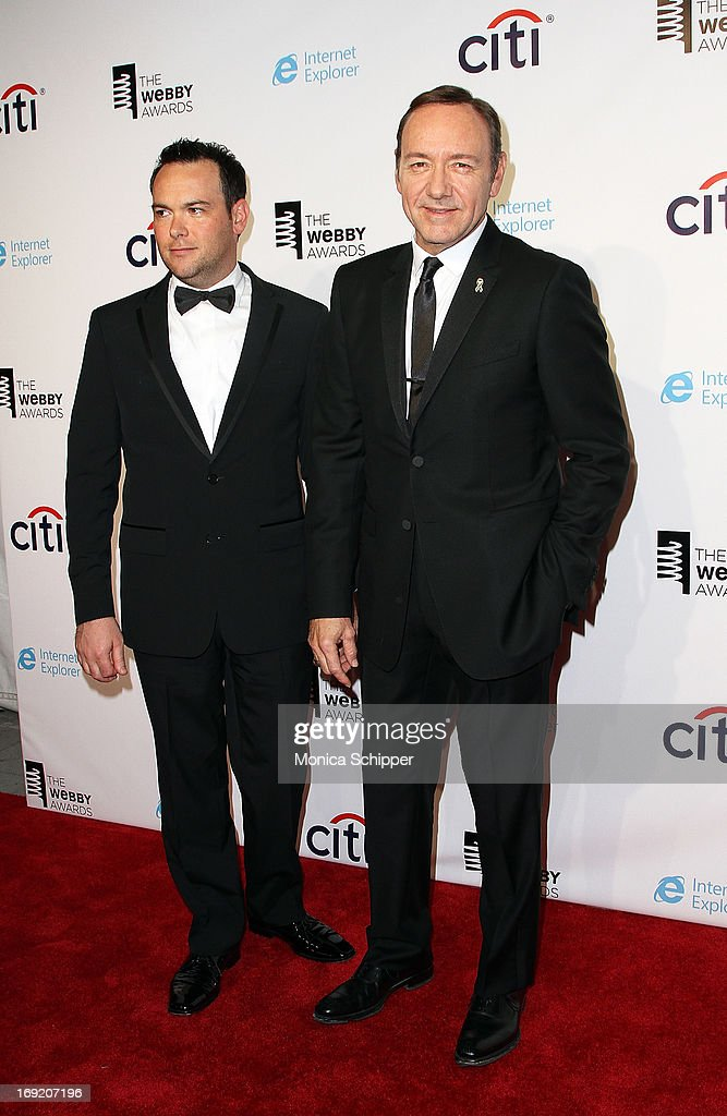 Producer Dana Brunetti and Kevin Spacey attend the 2013 Webby Awards at Cipriani Wall Street on May 21, 2013 in New York City.