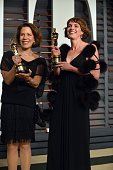 Producer Dana Perry and Director Ellen Goosenberg Kent attend the 2015 Vanity Fair Oscar Party hosted by Graydon Carter at the Wallis Annenberg...
