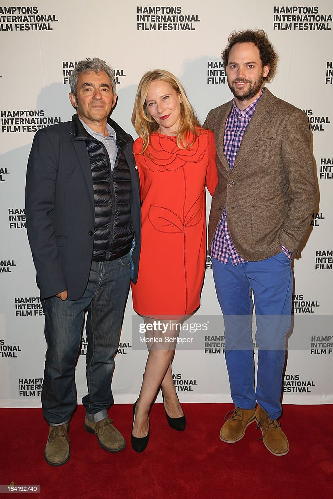 Producer <a gi-track='captionPersonalityLinkClicked' href=/galleries/search?phrase=Daniel+Battsek&family=editorial&specificpeople=216301 ng-click='$event.stopPropagation()'>Daniel Battsek</a>, actress <a gi-track='captionPersonalityLinkClicked' href=/galleries/search?phrase=Amy+Ryan&family=editorial&specificpeople=227236 ng-click='$event.stopPropagation()'>Amy Ryan</a> and <a gi-track='captionPersonalityLinkClicked' href=/galleries/search?phrase=Drake+Doremus&family=editorial&specificpeople=5669779 ng-click='$event.stopPropagation()'>Drake Doremus</a> attend the 21st Annual Hamptons International Film Festival on October 11, 2013 in East Hampton, New York.