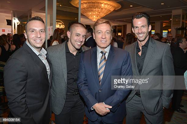Producer Danny Rose attorney Aaron Rosenberg talent agent Kevin Huvane and model Ryan Young attend the 2015 GLSEN Respect Awards at the Beverly...