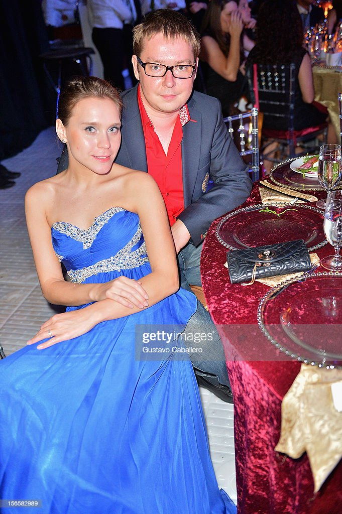 Producer Daria Tienbusch and Alexey Borovkov attend the Zenith Watches Best Buddies Miami Gala at Marlins Park on November 16, 2012 in Miami, Florida.