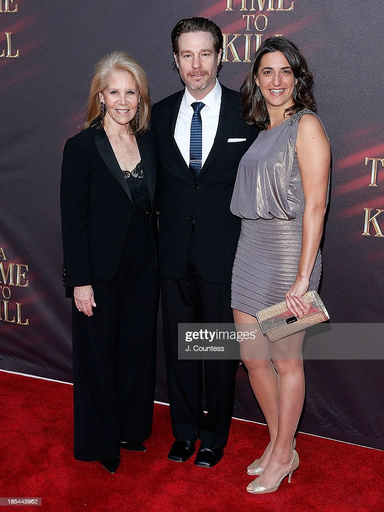 Producer <a gi-track='captionPersonalityLinkClicked' href=/galleries/search?phrase=Daryl+Roth&family=editorial&specificpeople=240435 ng-click='$event.stopPropagation()'>Daryl Roth</a>, director Ethan McSweeny and producer and Eva Price attend the Broadway opening night of 'A Time To Kill' at The Golden Theatre on October 20, 2013 in New York City.