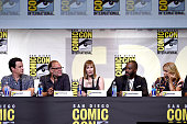 Producer David Alpert producer/director Greg Nicotero producer Gale Anne Hurd and actors Colman Domingo and Kim Dickens attend AMC's 'Fear The...
