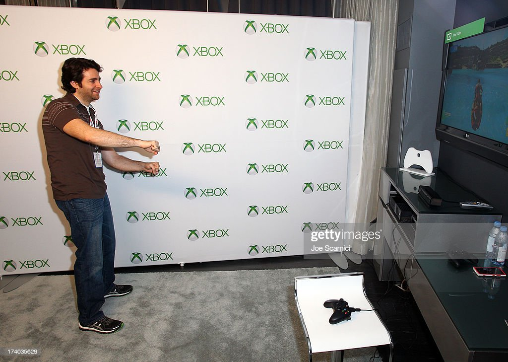 Producer David Baronoff plays Xbox One at Comic-Con 2013 at the Hard Rock Hotel San Diego on July 19, 2013 in San Diego, California.