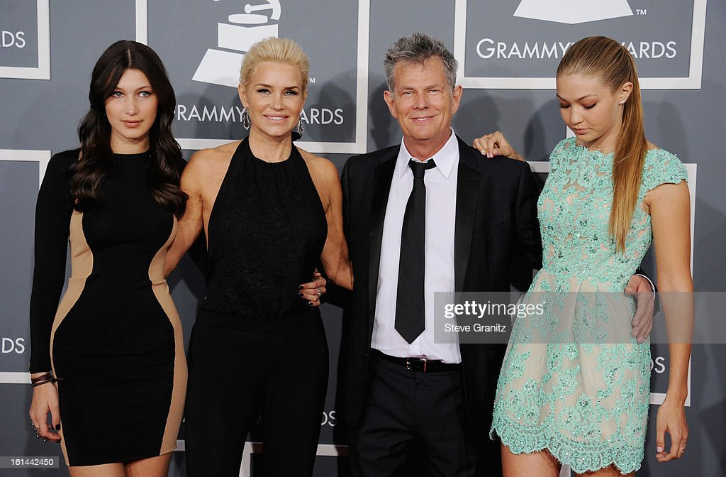Producer David Foster (2nd from right) and Yolanda Foster (2nd from lef) and guests attend the 55th Annual GRAMMY Awards at STAPLES Center on February 10, 2013 in Los Angeles, California.
